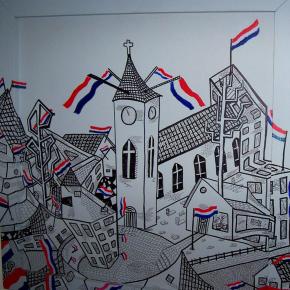 60 jaar bevrijding schilderij